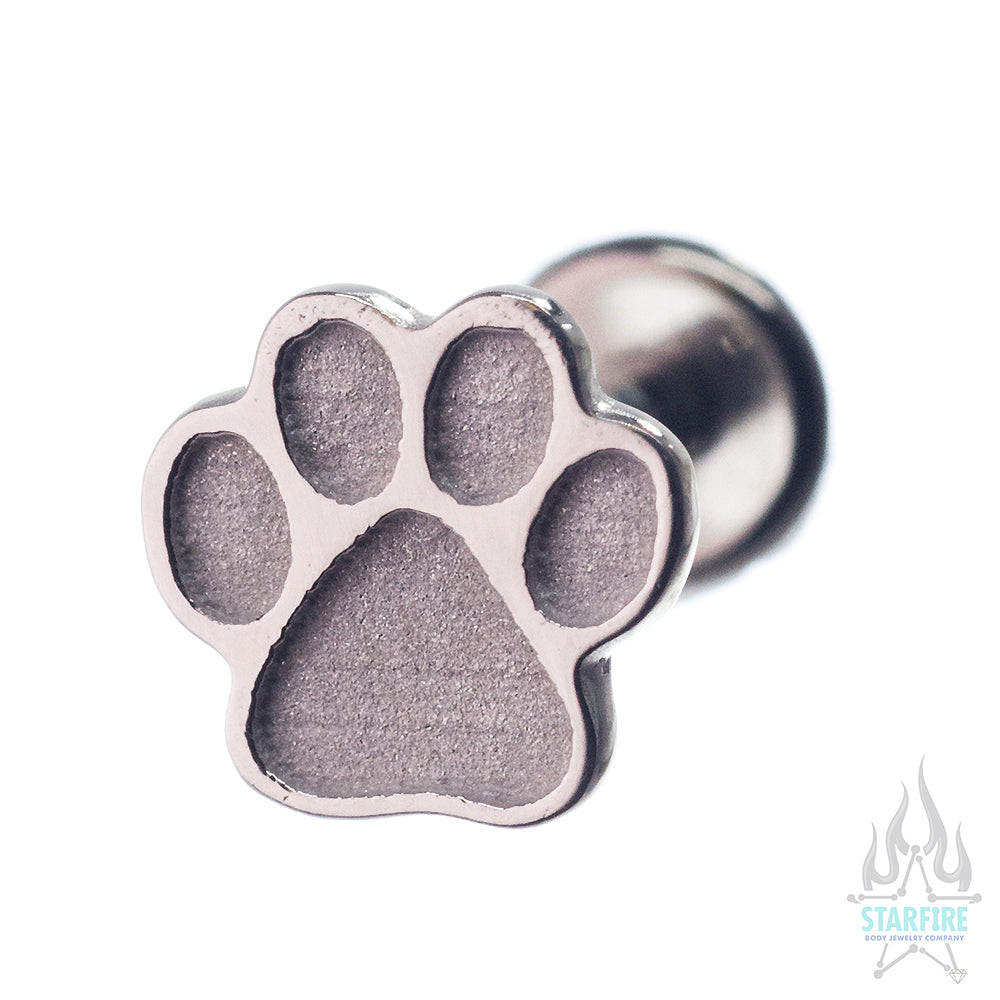stud paw pur lily dog products earrings nily side purple