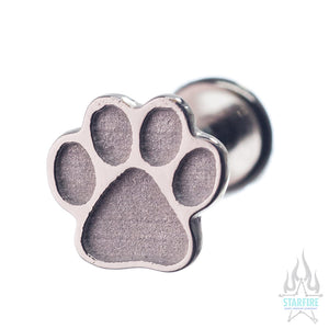 Dog Paw Print in Gold - on flatback