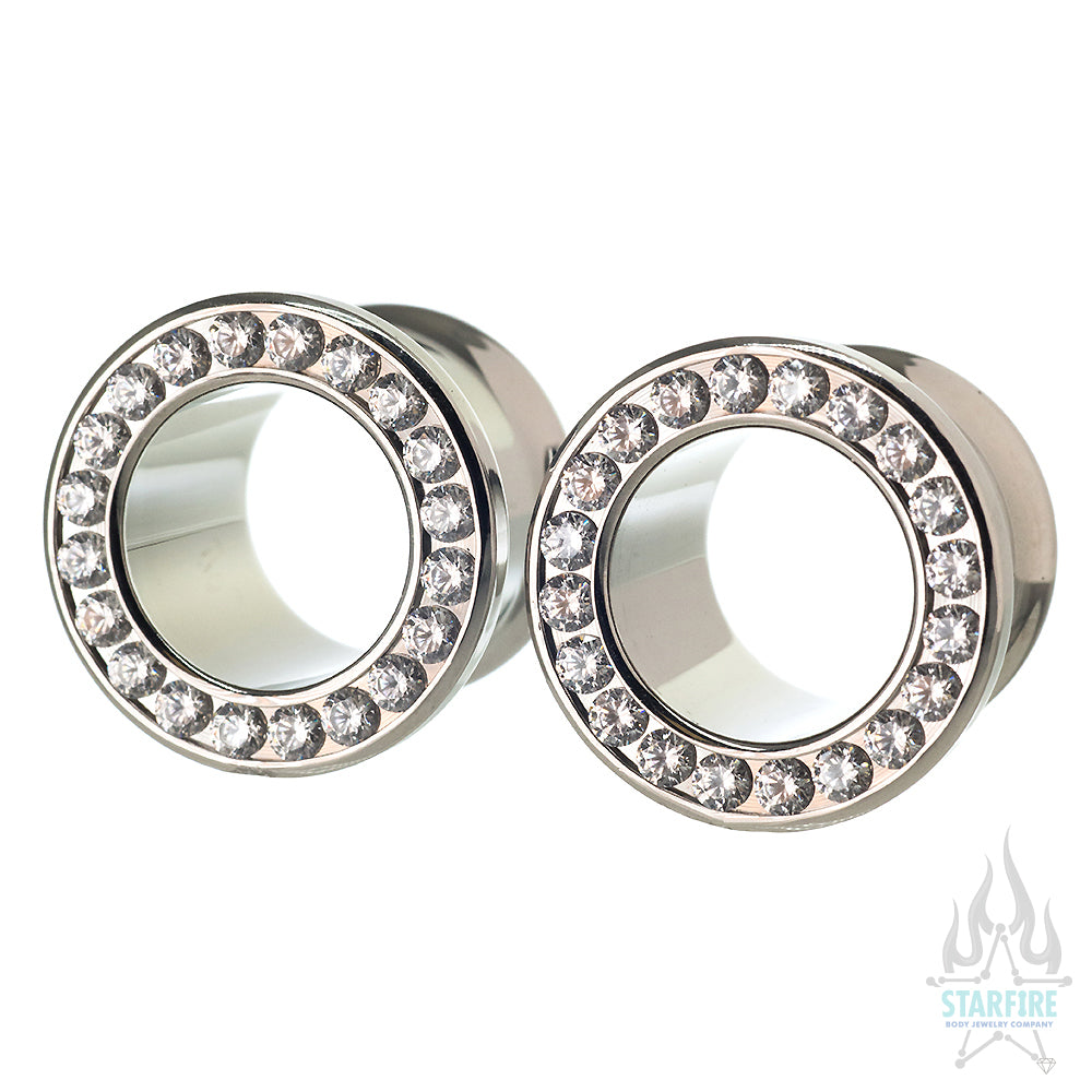 Gemmed CZ Eyelets - Brilliant Cut