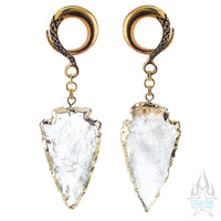 Crossovers with Gold Plated Quartz Arrowheads