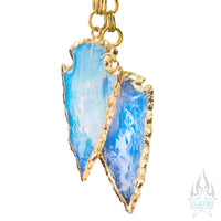 Crossovers with Gold Plated Opalite Arrowheads