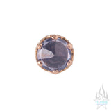 "3mm ""Queen"" Crown in Rose Gold with Reverse-Set Brilliant-Cut Gem - on flatback"