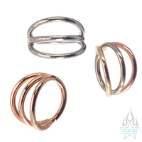 Triple Gap Seam Ring in Gold