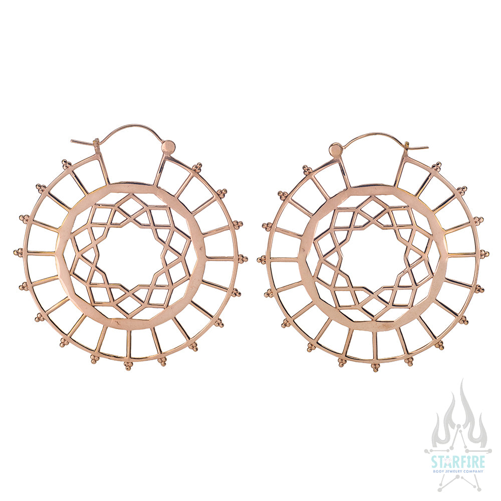 Nebula Earrings - Rose Gold