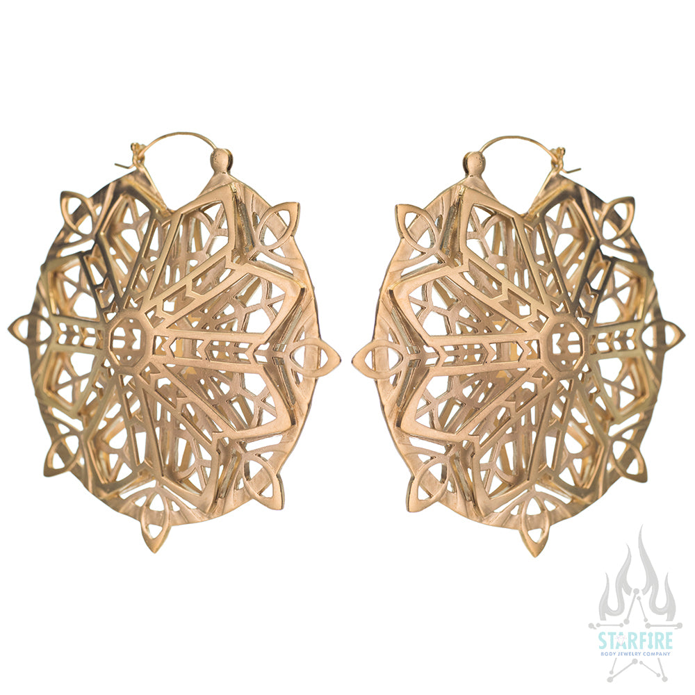 Transendence Earrings - Yellow Gold SATIN