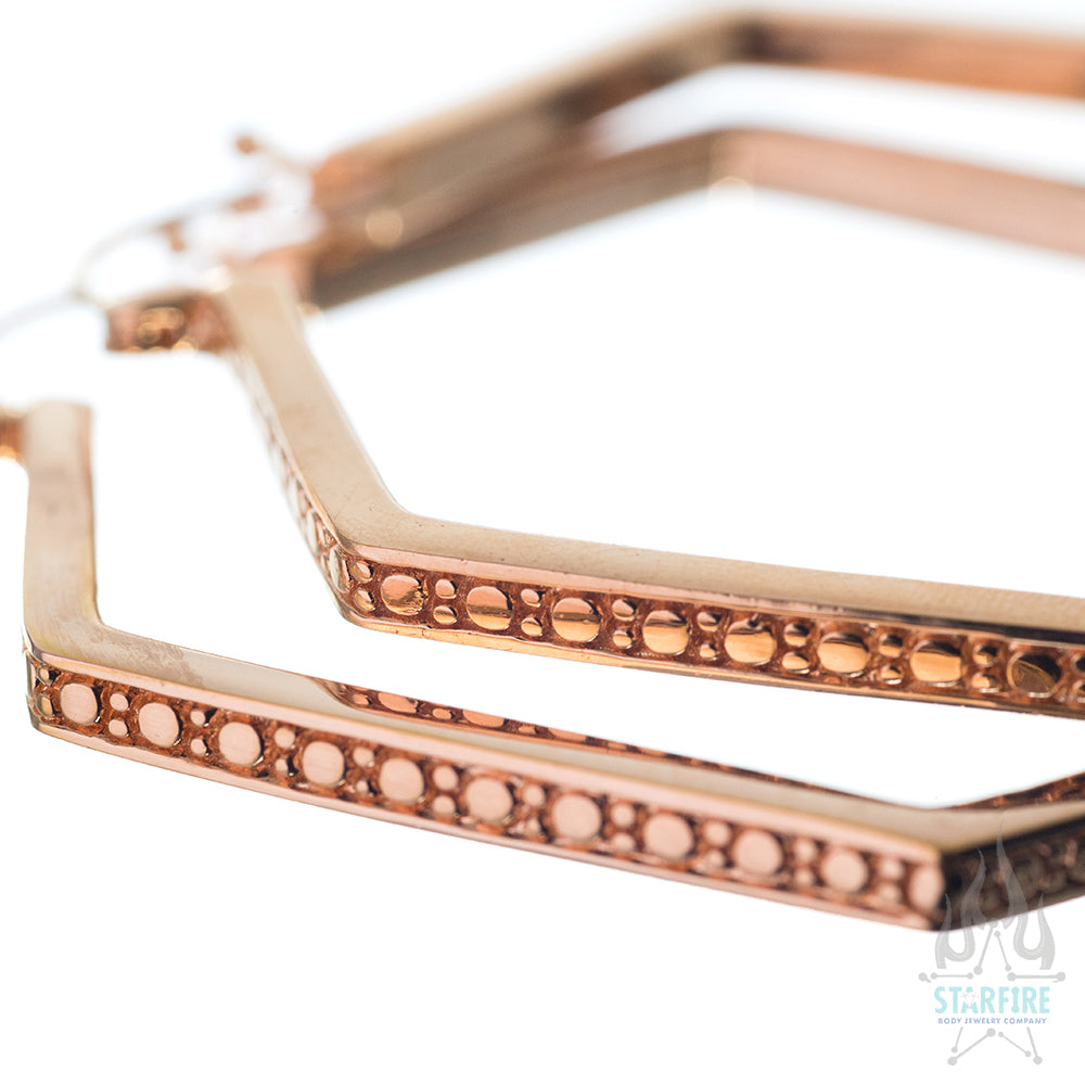 Sequence Hoop Earrings - Rose Gold