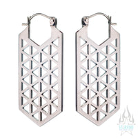 Hologram Earrings (small) - Silver