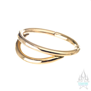 Custom Gap Hinge Ring in Yellow Gold
