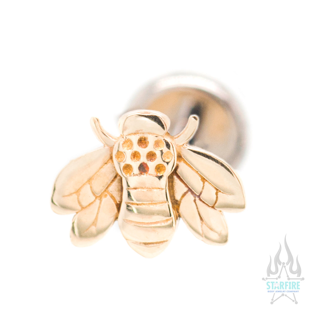 Bee in Yellow Gold - on flatback