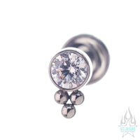 11HT-3 3mm 'Haute Couture' Faceted Gem Bezel Cluster - on flatback