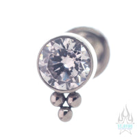 11HT-3 4mm 'Haute Couture' Faceted Gem Bezel Cluster - on flatback