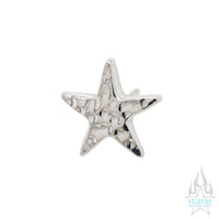 threadless: Flat Star HAMMERED FINISH Pin in Gold
