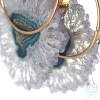 Halo - Rose Gold + Spotted Fluorite Crystal
