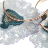 Halo Weights Large - Rose Gold + Spotted Fluorite Crystal