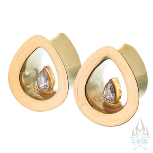 Evoke Eyelets - CZ in Yellow Gold