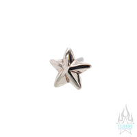 threadless: Beveled Star Pin in Gold