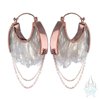 Moonstruck Earrings Medium - Rose Gold + Crystal