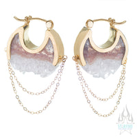 Moonstruck Earrings Small - Yellow Gold + Crystal