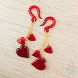 Dangling Hearts in Glass