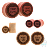Sweet Heart Wood Plugs