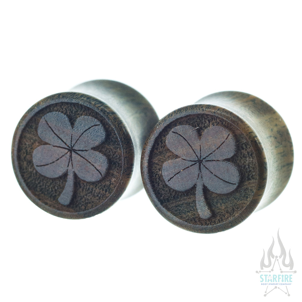 4 Leaf Clover Wood Plugs