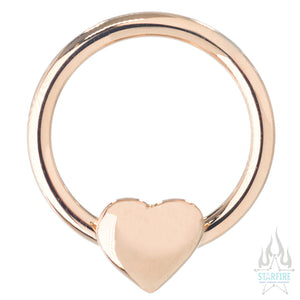 Puffy Heart Captive Bead Ring (CBR)