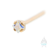 Princess-Cut Brilliant Gem Nostril Screw in Gold