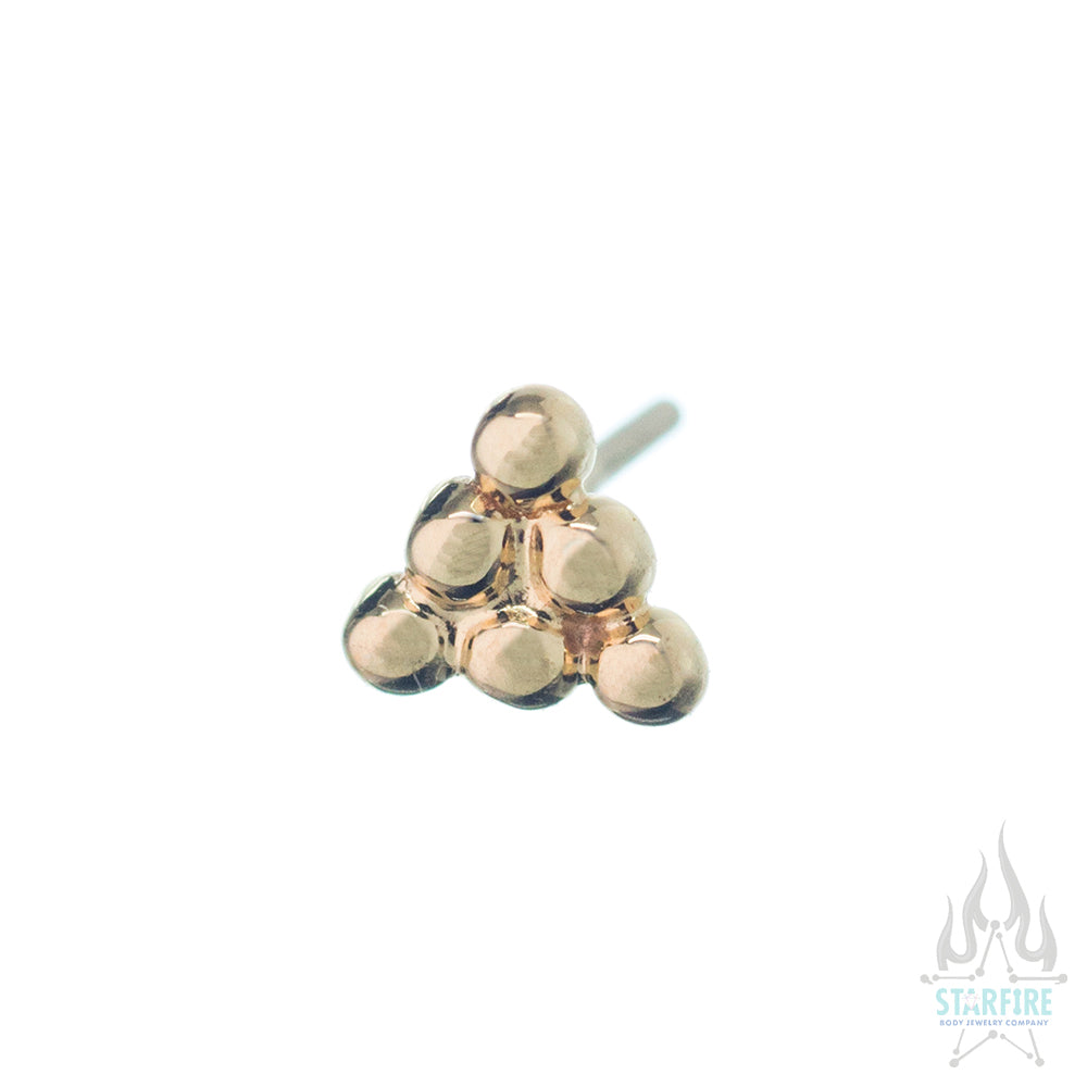 threadless: 6 Bead Triangle Pin in Gold