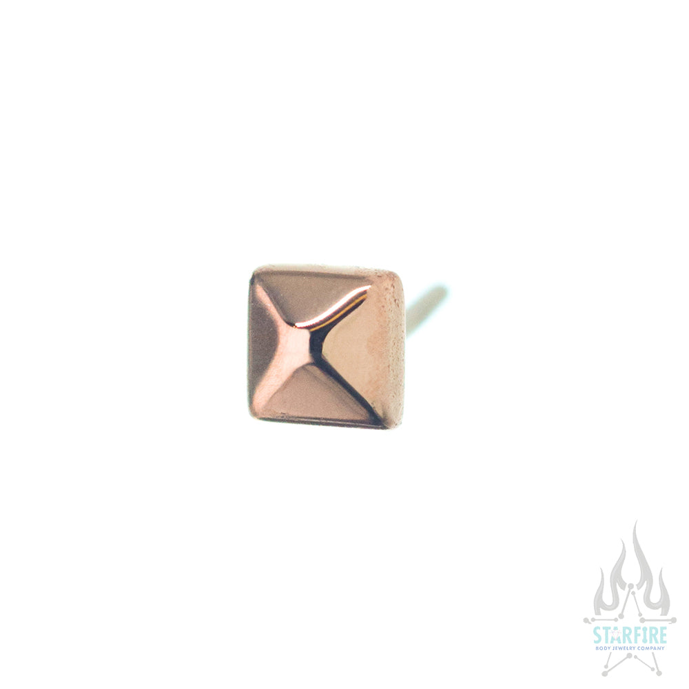 threadless: Square Pyramid Pin in Gold