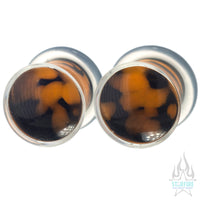 Zoa Glass Plugs - Orange