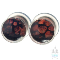 Zoa Glass Plugs - Red