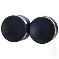 Obsidian Concave Glass Plugs - Matte Black