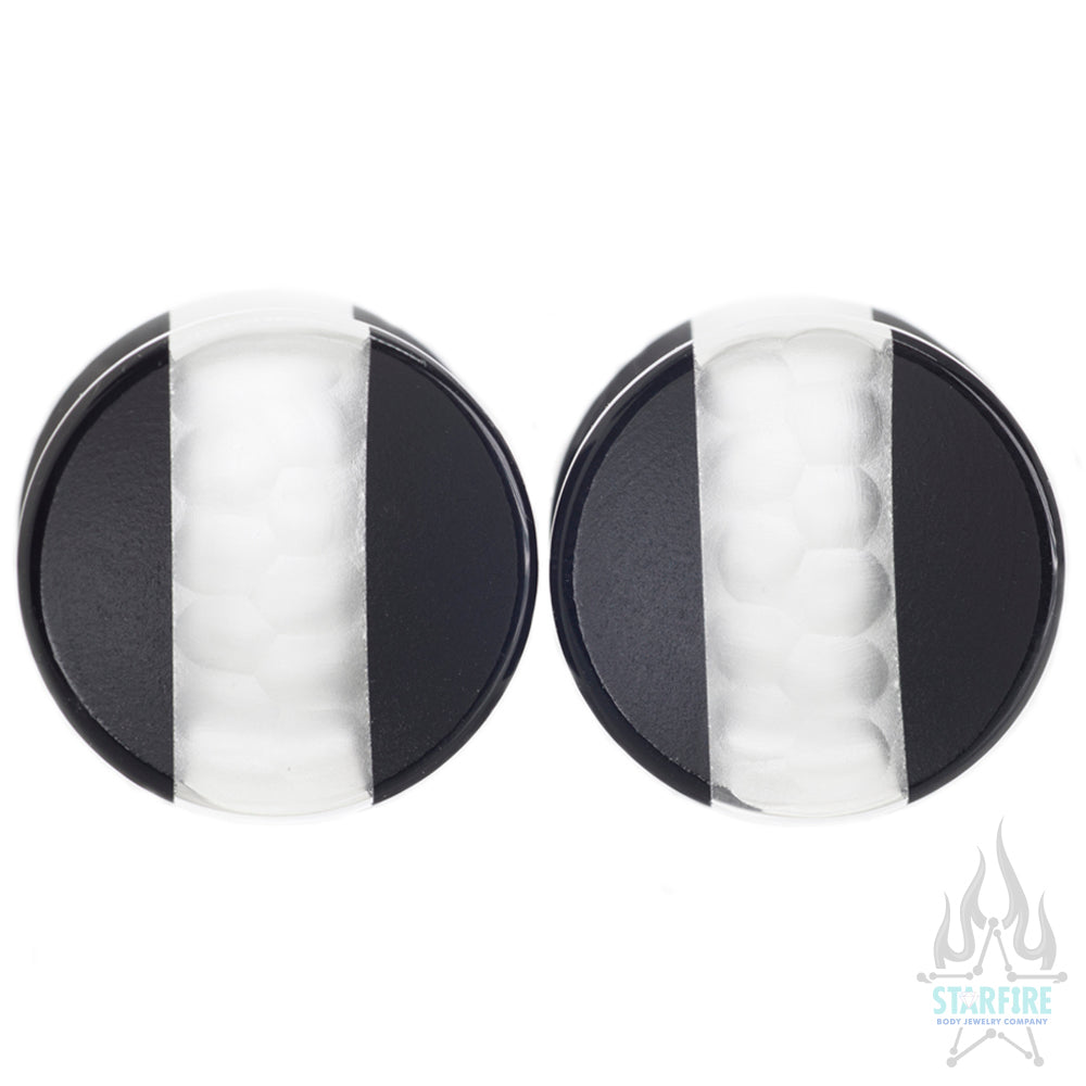 Hybrid Concave Glass Plugs