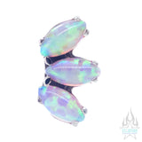 Marquise Fan with Opals on Flatback