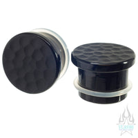 Obsidian Martele Glass Plugs