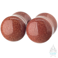 Stone Plugs - Goldstone