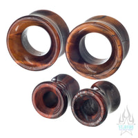 Stone Eyelets - Red Tiger's Eye