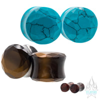 Faceted Stone Plugs