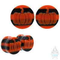 Halloween Pumpkin Glass Plugs