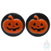 Jack-o'-Lantern Glass Plugs