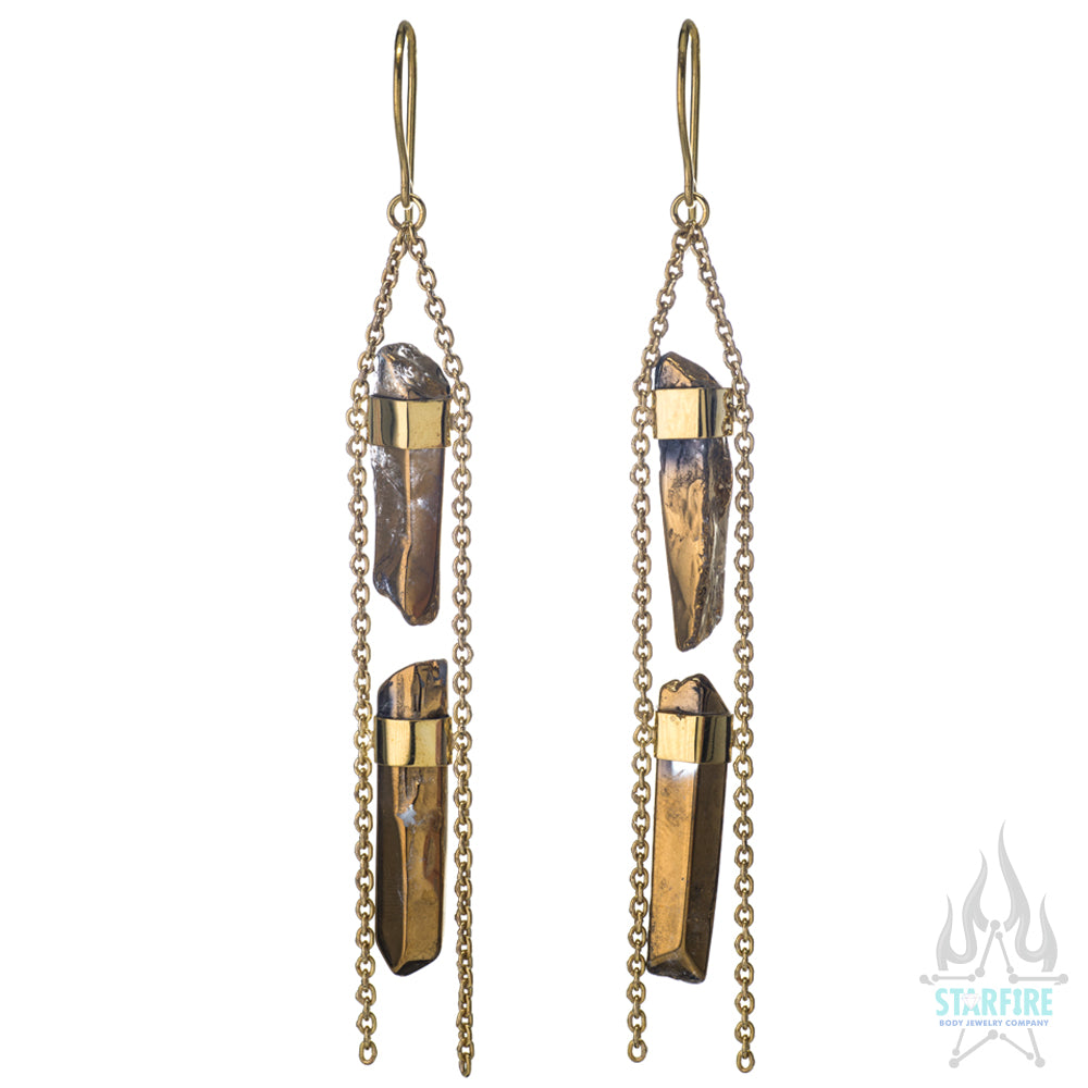 """2 Chainz"" Crystal Drop Earrings"