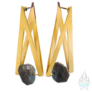 """Vida"" Earrings with Labradorite"