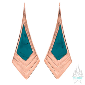 """Royal"" Earrings with Turquoise Inlay"