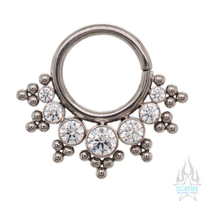 HSMR-E 'Haute Couture' Faceted Gem Seam Ring