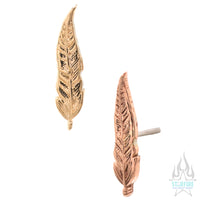 threadless: Feather Pin in Gold