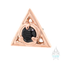 threadless: Triad Pin in Gold