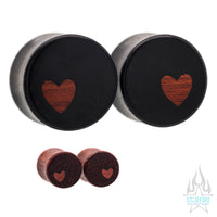 Side Heart Wood Inlay Plugs