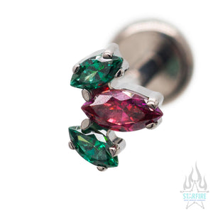 Marquise Fan #9 Faceted Gem on Flatback - Holiday Collection