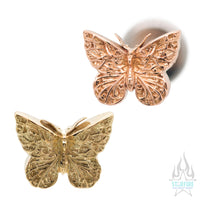 Butterfly in Gold - on flatback