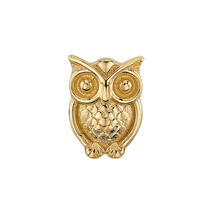 """Owl Pacino"" in Gold - on flatback"
